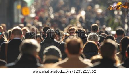 Crowd of people walking street Foto stock ©