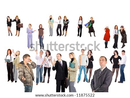 """crowd of small groups and single people  - See similar images of this """"Groups of people"""" series in my portfolio"""