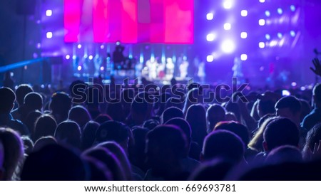 Crowd People At Rock Concert #669693781