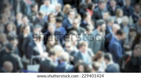 Crowd people background, intentional blurred post production