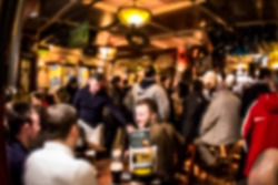 Crowded Irish pub blur