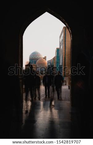 Crowded Passageway in Samarkand, Uzbekistan Observatory #1542819707