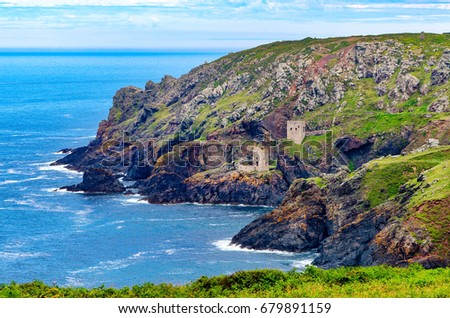 Crown Mines at Botallack, Cornwall.