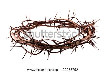 Crown of thorns Jesus Christ isolaten on white Stockfoto ©