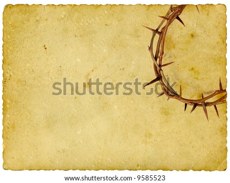 Crown of Thorns on vintage background