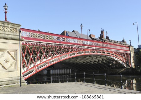 Crown Point Bridge over the River Aire in Leeds