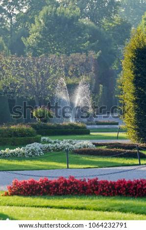Crown prince privy garden of Schonbrunn Palace in Vienna,