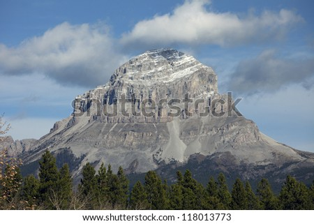 Crowsnest Mountain in Rocky Mountains, Alberta, Canada