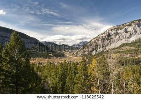 Crowsnest Pass in the Canadian Rockies, Alberta