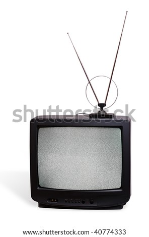 CRT television receivor with antenna