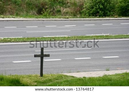 crucifix near the road