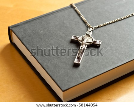 Crucifix on Holy Bible