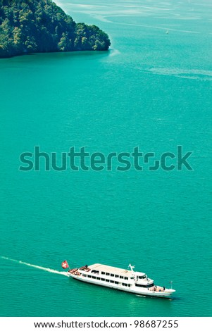 Cruise boat on the Lake Lucerne (Vierwaldstaettersee) in Switzerland
