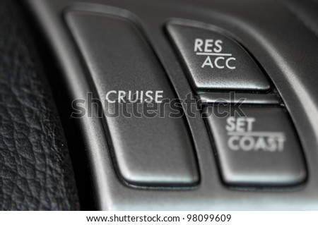 Cruise control on steering wheel