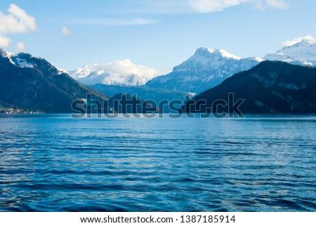 Cruise on Lake Lucerne in autumn, Central Switzerland, Switzerland #1387185914