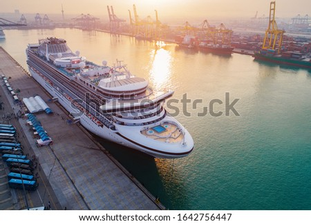 Cruise passengers ship berthing in the port services to the passenger sailing to destination port, restriction quarantine healthcare to all berthing ports