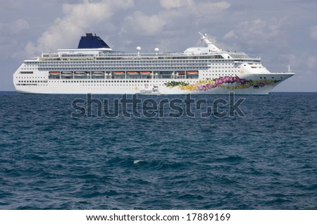 Cruise ship at sea - stock photo