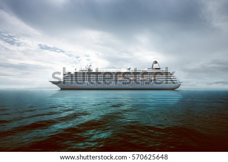 Cruise Ship at sea