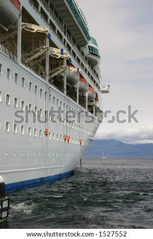 Cruise Ship, closeup shot