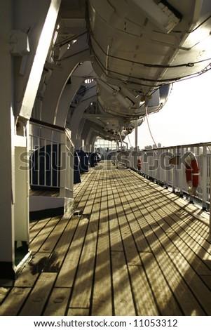 Cruise ship deck exterior. #11053312