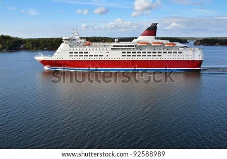 Cruise ship in Baltic sea.