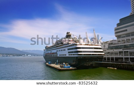 Cruise ship in harbour #83525632