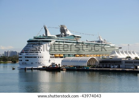 Cruise ship in Miami, Florida