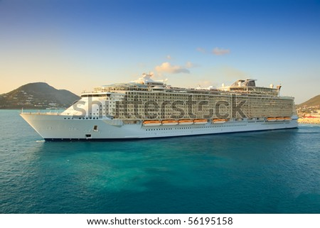 Cruise Ship in the Caribbean Sea