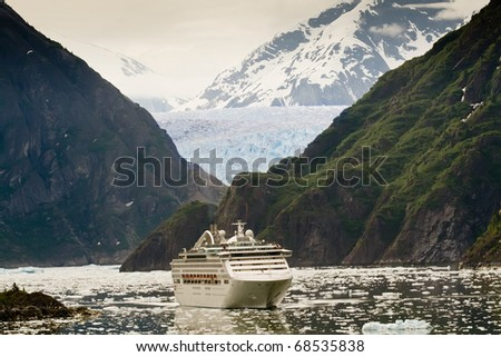 Cruise Ship in Tracy Arm Fjord, Alaska
