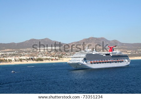 Cruise Ship off Land
