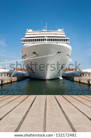 Cruise ship standing at the berth
