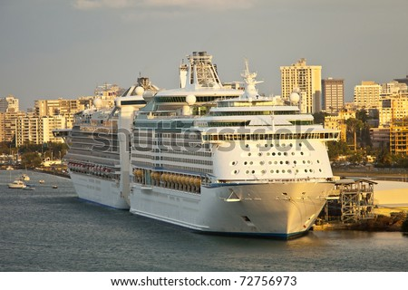 cruise ships in port, san juan puerto rico