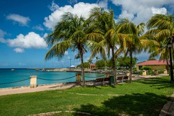 Cruise terminal downtown Frederiksted, St. Croix, US Virgin Islands.