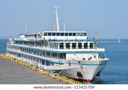 Cruise tourist ship, Black sea, Odessa, Ukraine