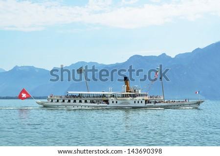 Cruiser ship. Geneva lake, Switzerland