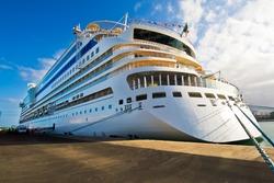 Cruiseship in Las Palmas Gran Canaria Spain