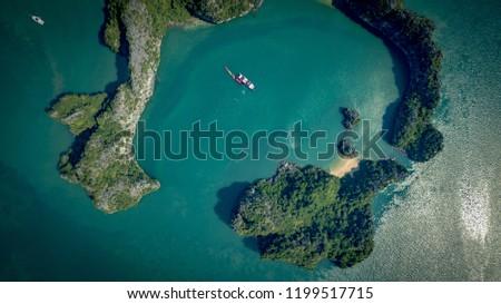 Cruising in Bai Tu Long Bay and Halong Bay, Vietnam