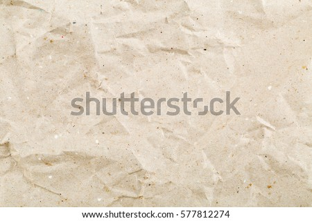 Crumbled beige empty, clean paper texture background