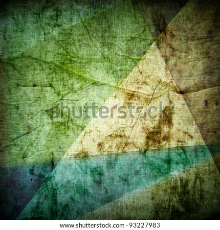 crumbled colorful vintage paper ; abstract background