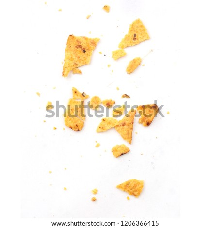 crumbs from nachos
