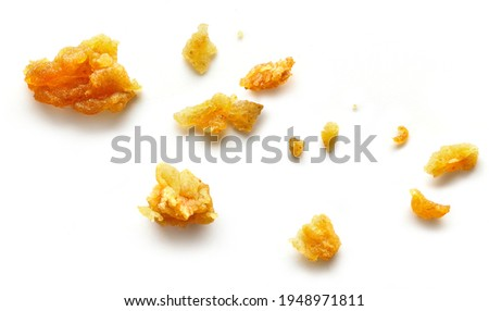 crumbs macro isolated on white background, top view Stockfoto ©