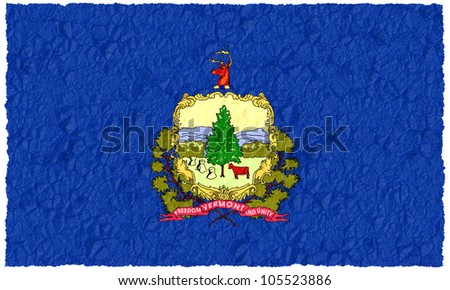 Crumple flag of Vermont American state