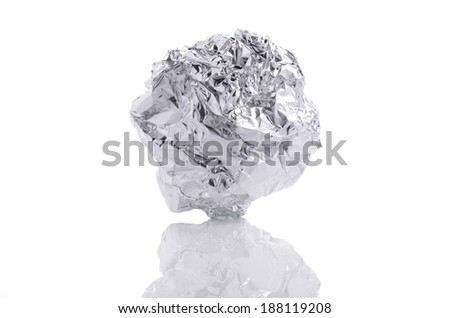 how to make an aluminum foil ball