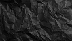 Crumpled and folded Black Paper Texture Images for background logo text template design