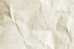 crumpled beige paper background texture