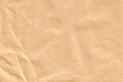 Crumpled Beige Paper Texture. Paper Background for Design