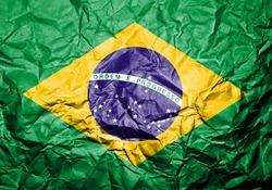 Crumpled Brazilian flag.