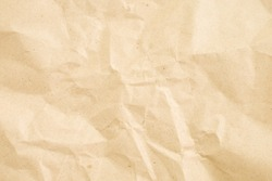 crumpled cream paper background texture
