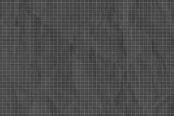 Crumpled dark gray grid paper textured background