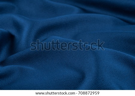 crumpled fabric background and texture. Abstract background, empty template. Selective focus. #708872959